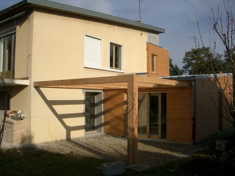 Extension bois d une maison champagne au mont d or for Prix au m2 d une extension de maison