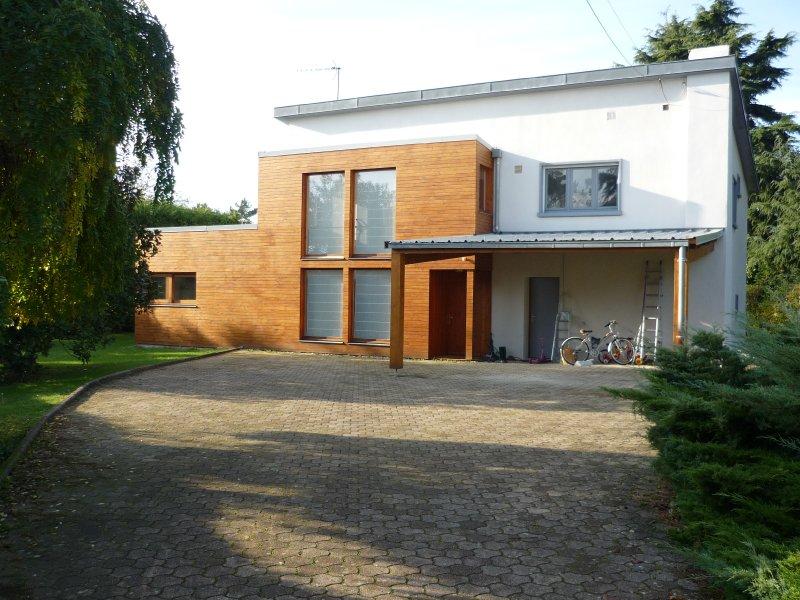 Extension bois d une maison champagne au mont d or fabien perret architecte lyon - Exemple agrandissement maison ...