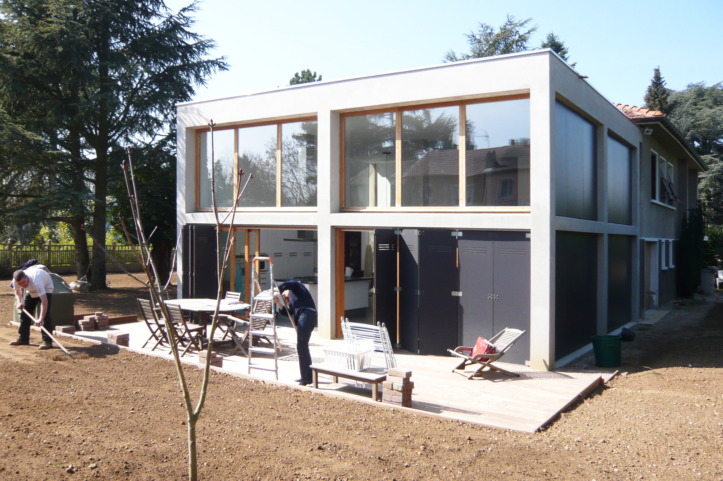 extension-contemporaine-caluire-ossature-beton