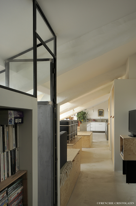 am nagement appartement lyon 5eme fabien perret architecte lyon. Black Bedroom Furniture Sets. Home Design Ideas