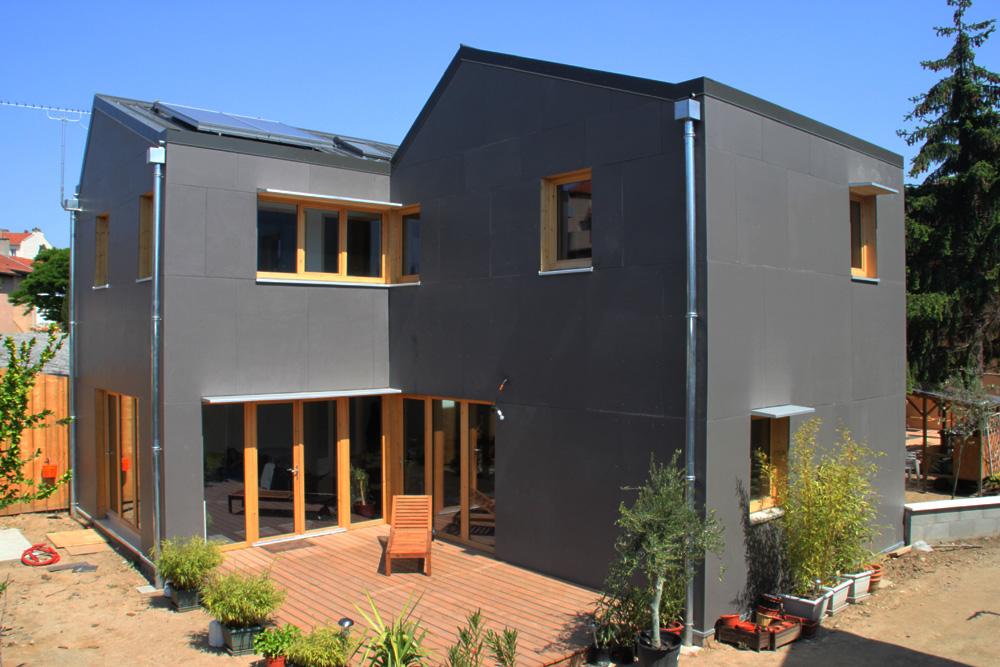Maison ossature bois bbc plus fabien perret architecte lyon for Maison modulaire bbc