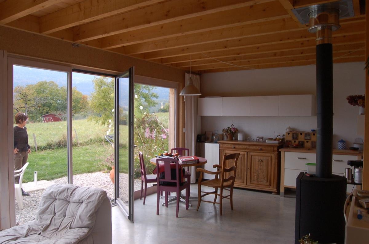 maison double en ossature bois fabien perret architecte lyon. Black Bedroom Furniture Sets. Home Design Ideas