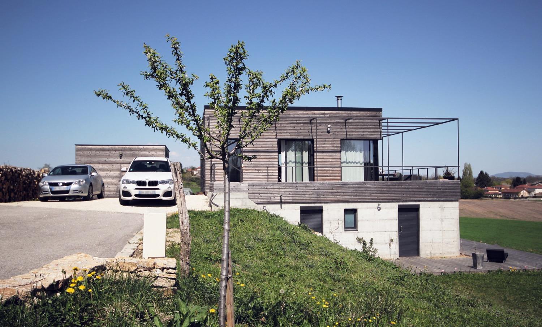 maison moderne dans la pente en Isère | Fabien Perret Architecte Lyon