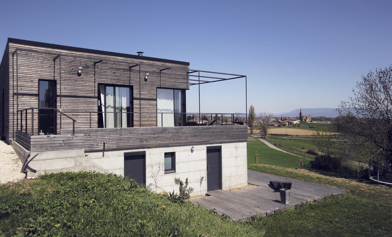 maison moderne dans la pente en Isère | Fabien Perret ...
